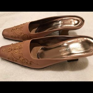 Enzo Angiolini patterned suede shoes